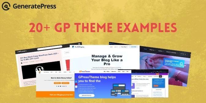 GeneratePress Theme Examples
