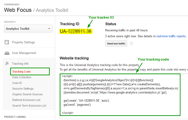 how to start a blog Google-Analytics-Tracking-Code