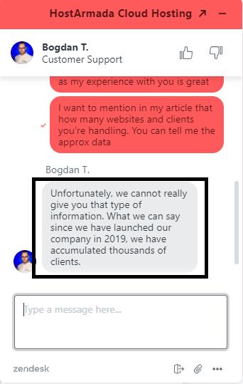 HostArmada has thousands of clients