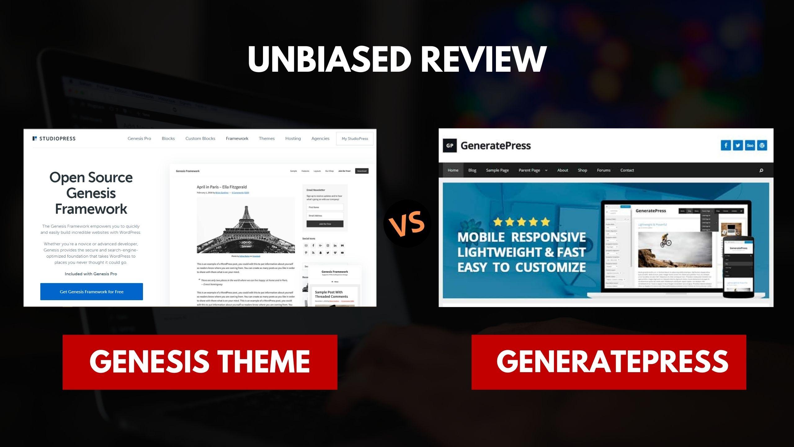 Genesis vs GeneratePress